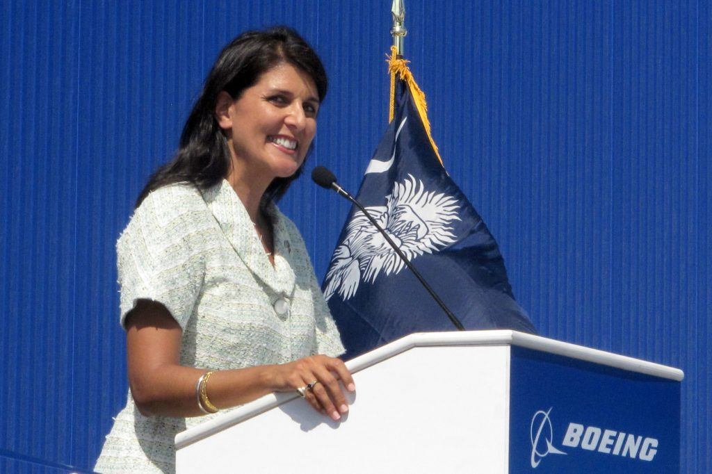 Former UN ambassador Haley resigns from Boeing board, opposing government aid