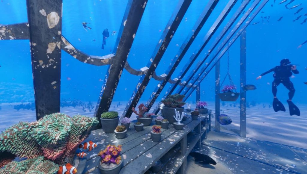See an underwater art installation built inside the Great Barrier Reef
