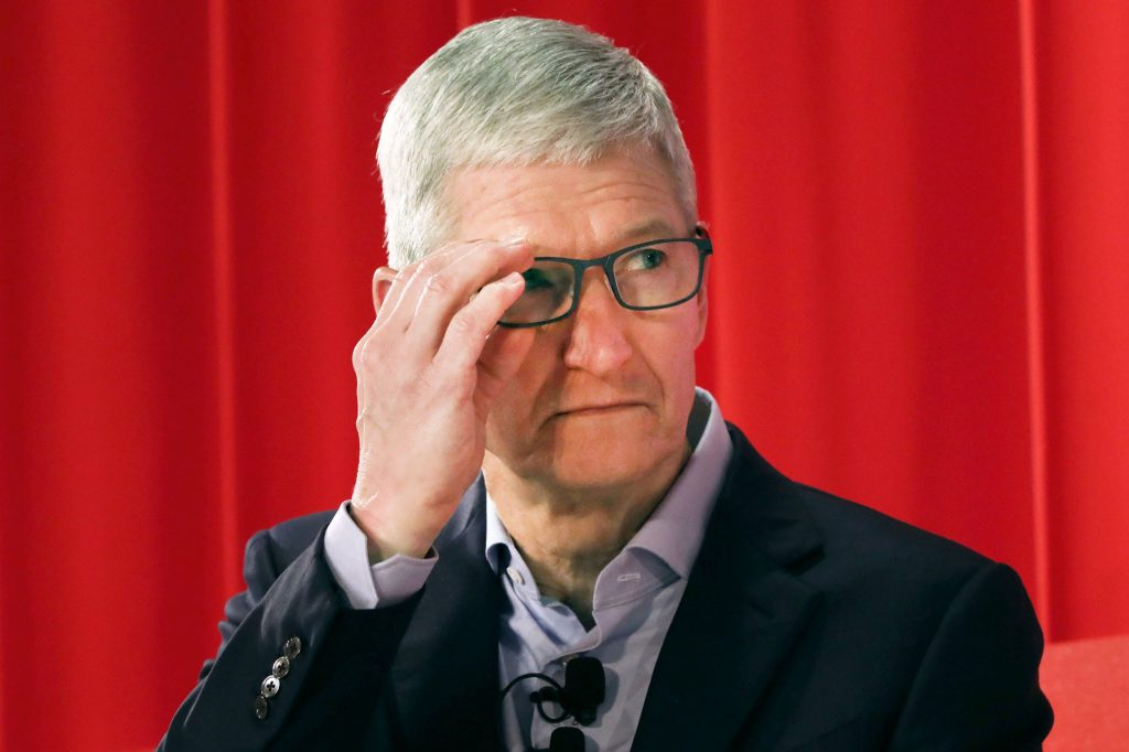 Apple CEO Tim Cook saw an 'uptick across the board' in late April