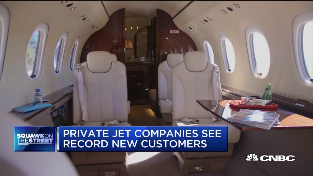 Private jet bookings soar as commercial flight demand creeps higher