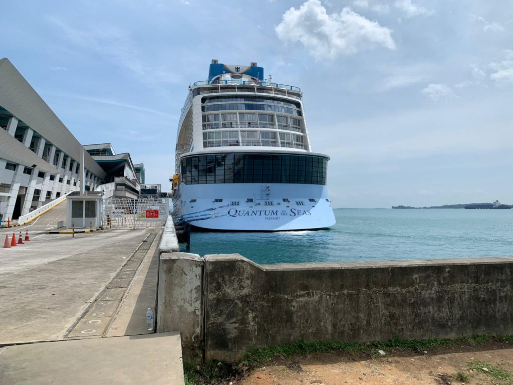 Covid-19 tests for passenger on a Royal Caribbean cruise in Singapore